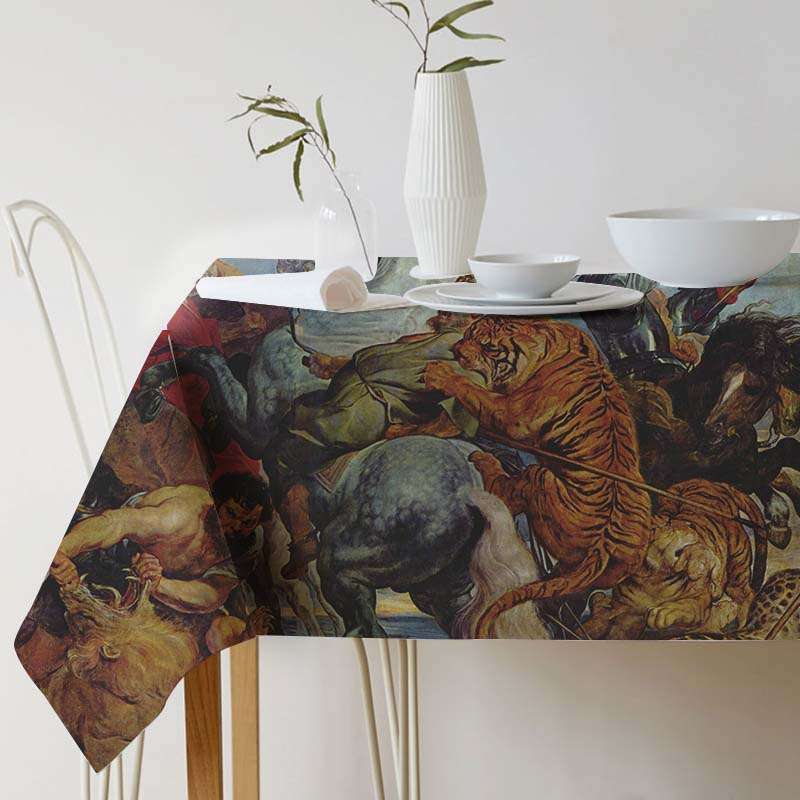 Tablecloth for table Pieter Paul Rubens Painting Art tablecloth Ink Home Protection and decoration Elegant Table cover