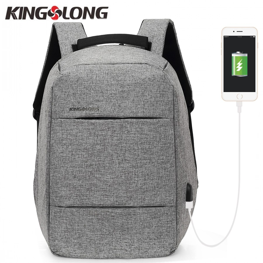 ac0097728853 KINGSLONG Bag Fashion Business Backpack 15.6 Inch Laptop Backpack  Anti-theft Backpack USB mochila Student