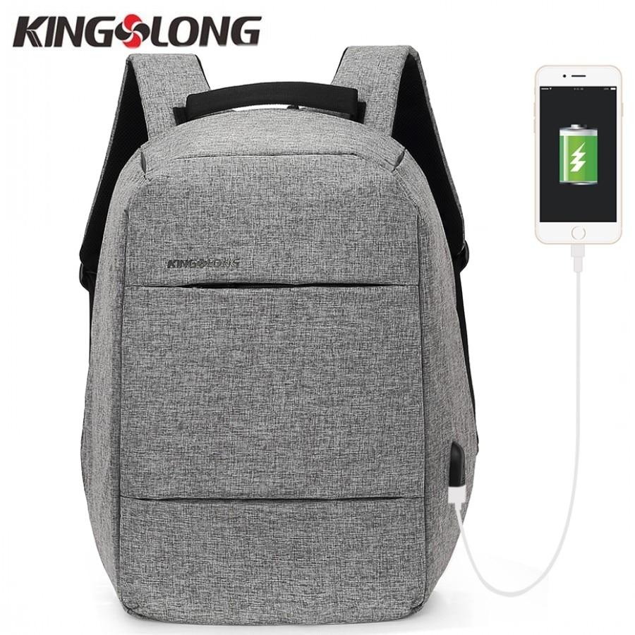 KINGSLONG Bag Fashion Business Backpack 15 6 Inch Laptop Backpack Anti theft Backpack USB mochila Student