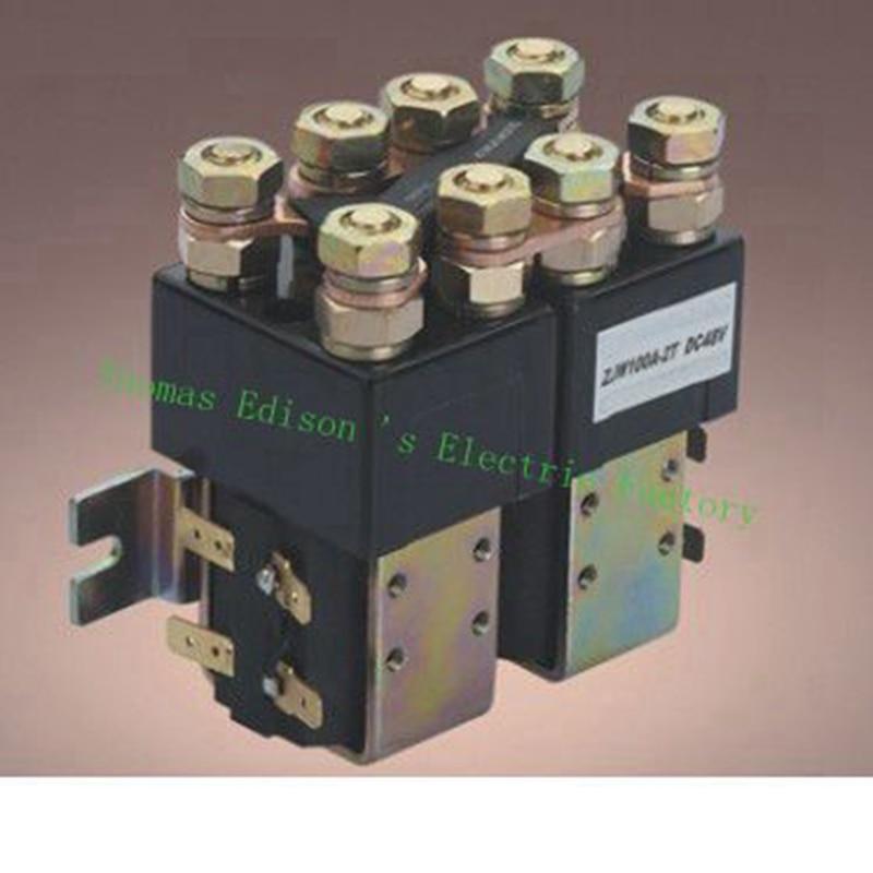 ZJW100JT SW822 12V 24V 36V 48V 60V 72V 100A DC Contactor for motor forklift electromobile grab wehicle car dc reversing contactor dc182b 537t for forklift 48v 200a zapi b4dc21