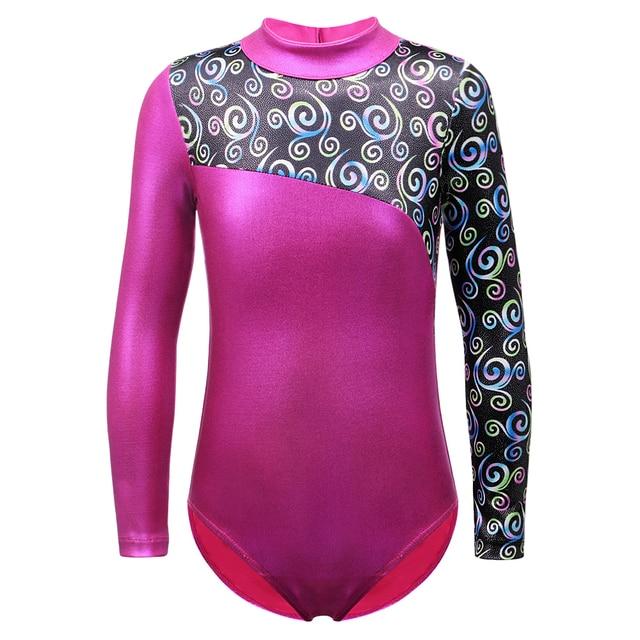 0071d83e1dcf Dance Leotard for Girls Ballet Tutu Costumes Gymnastics Long Sleeve ...