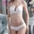 Amante Beleza 2017 Nova Transparente Fio Grátis Sexy Push Up Bra e Conjuntos de Calcinhas Plus Size Mulheres roupa interior Conjuntos de Sutiã ultra-fino-Um