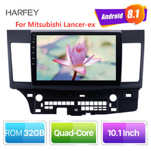 Harfey Android 8,1 10,1 inch 2din HD Touchscreen GPS audio Stereo für Mitsubishi Lancer ex auto multimedia player mit bluetooth