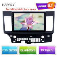 Harfey Android 8.1 10.1 inch 2din HD Touchscreen GPS audio Stereo for Mitsubishi Lancer ex car multimedia player with Bluetooth