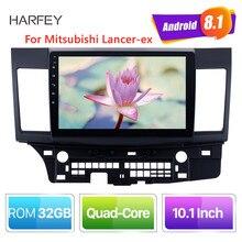 Автомобильный мультимедийный проигрыватель Harfey, Android 8,1, 10,1 дюйма, 2din, HD сенсорный экран, GPS, аудио стерео для Mitsubishi Lancer ex, с Bluetooth