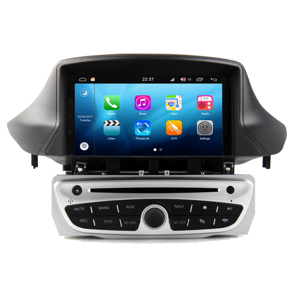 For Renault <font><b>Megane</b></font> III 3 Fluence Android 8.0 Auto Accessories Touchscreen Radio <font><b>DVD</b></font> <font><b>GPS</b></font> Navigation Multimedia Player PhoneLink image