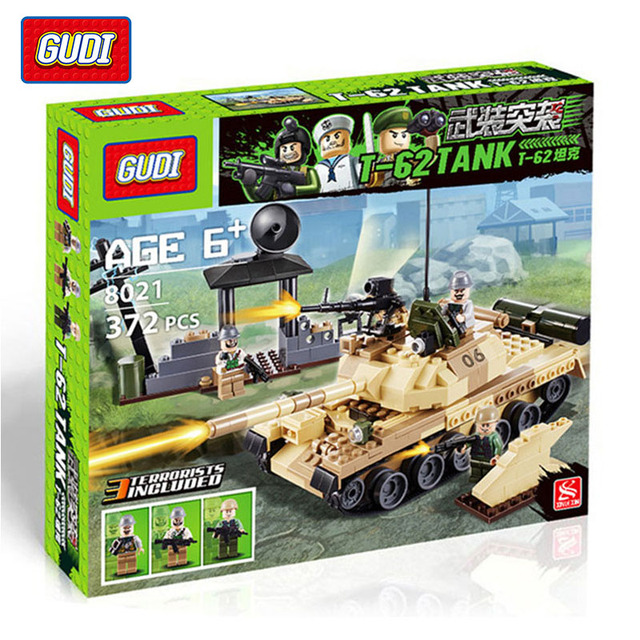 Гуди 2016 новых военных войны советская армия т-62 MBT танк модели строительные блоки бронированные военные бак малыш игрушка совместим с Legoe