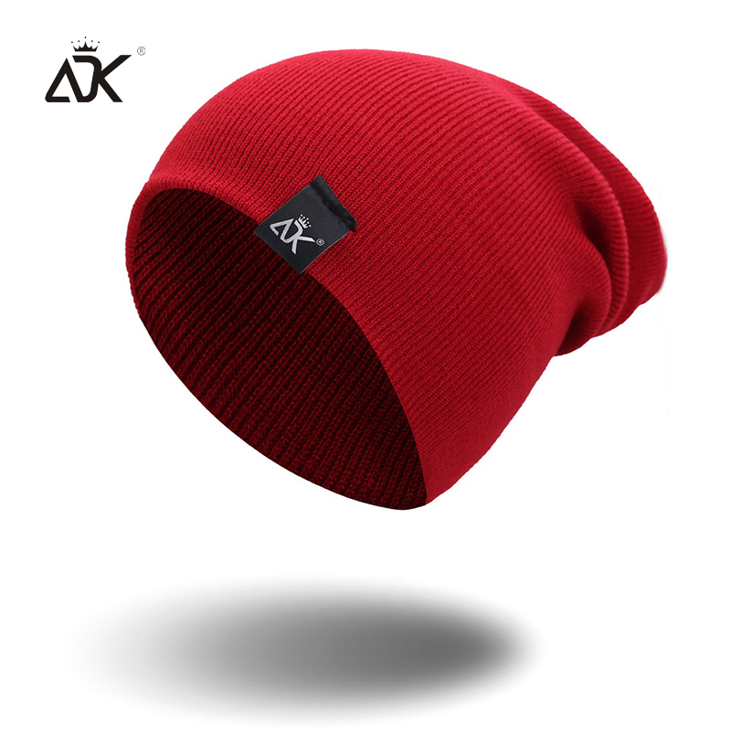 Cotton Blends Hip Hop Beanies For Girl Winter Cap Label Knitted Hat Female Unisex Solid Color Bonnet Casual Slouchy Skullies 3