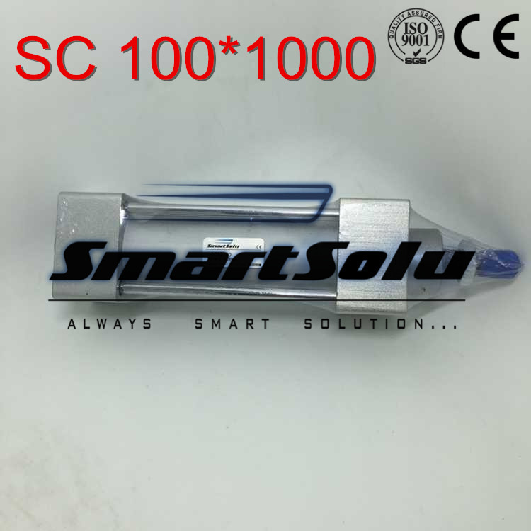 Free Shipping Airtac type Standard pneumatic cylinder 100mm bore 1000mm stroke SC100x1000 double acting air piston cylinder free shipping sc series 32x75 double acting pneumatic air standard cylinder 32mm bore 75mm stroke 5pcs in lot