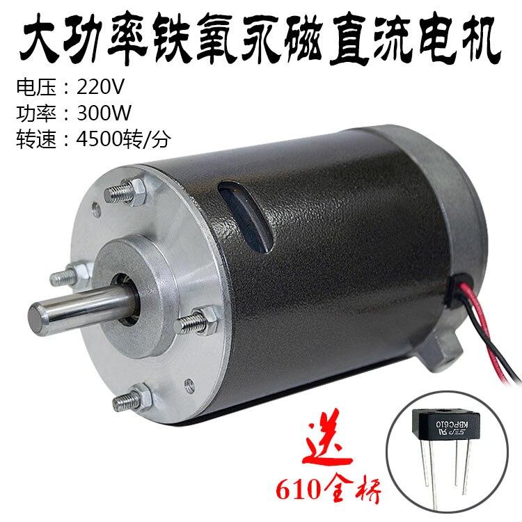 Permanent Magnet Dc 36v 220v 300w 750rpm 4500rpm High