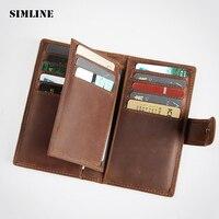 Brand Vintage Genuine Crazy Horse Leather Cowhide Mens Men Short Wallet Purse Wallets Credit Card ID