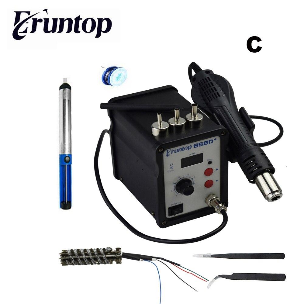 700W Eruntop 858D+  ESD Soldering Station LED Digital SMD Solder Blowser Hot Air Gun