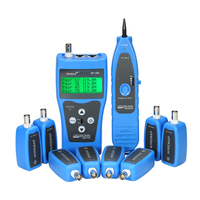 Multi functional LCD Network Cable Tester Wire Tracker RJ11 RJ45 BNC Wire Length Finder with 8 Remote Adapters for lan testing