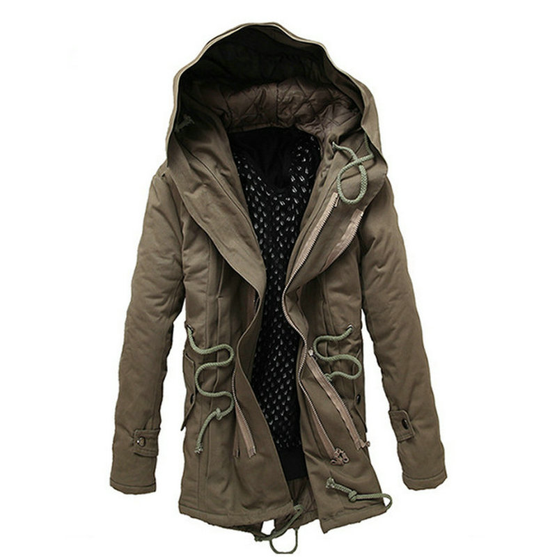 2018 Hot Fashion Autumn Winter Jacket Coat Men Casual Slim Hooded Parka Men