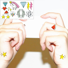 25 Style Temporary Tattoo Body Art, Cute Things Designs, Flash Tattoo Sticker Keep 3-5 Days Waterproof 21x15cm