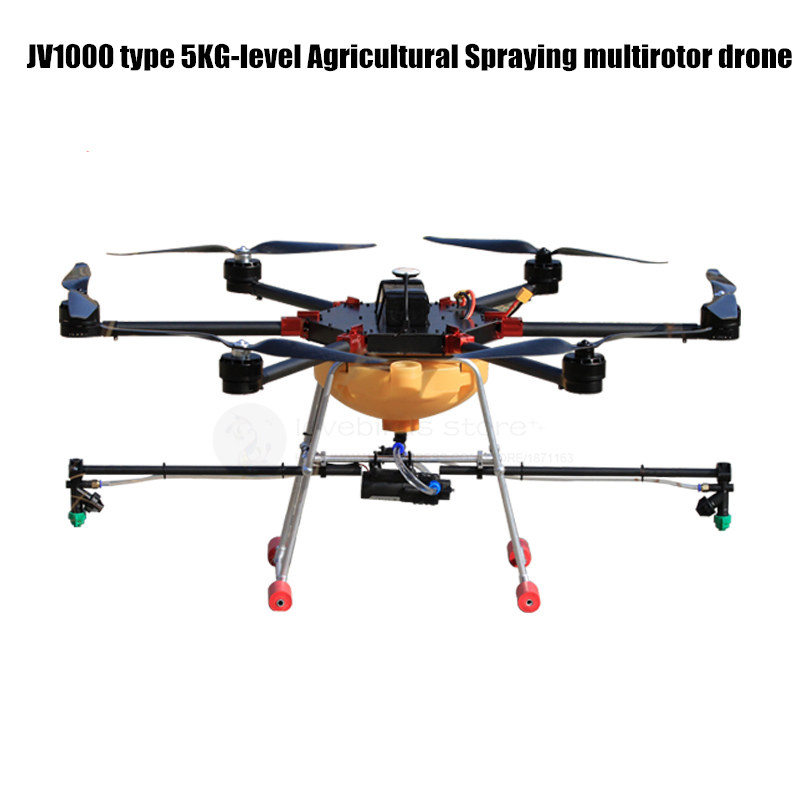 DIY Agriculture spray multirotor drone hexacopter empty pure carbon fiber frame JV1000 with 5KG spray gimbal system eft diy 10l agriculture spray quadcopter drone 1300mm annular folding pure carbon fiber frame model a and model b