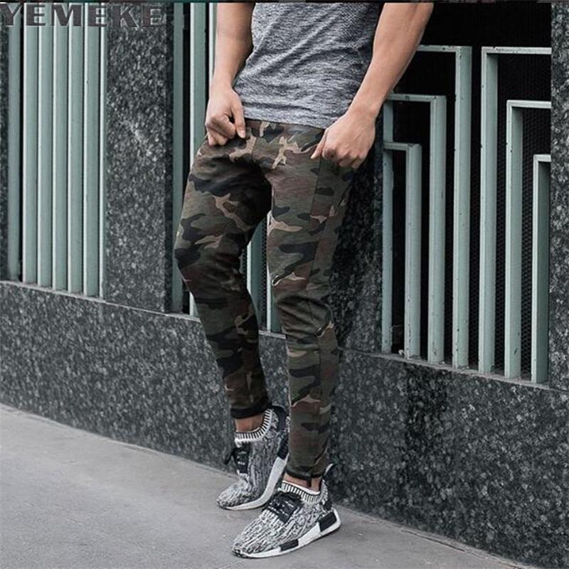 YEMEKE 2017 Vīriešu modes siltas džemperu bikses Sporta bikses Joggers Garās bikses Slim Fitness Legingi Pant Casual Sportwear