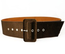 Fashion Flannel Silver Pin Buckle Belt Velvet