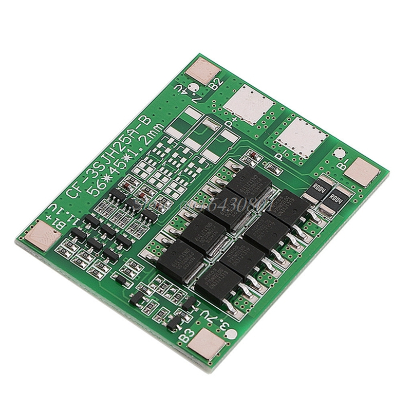 30A 3S Polymer Lithium Battery Charger Protection Board 3 Serial 12V 3pcs 18650 3.7 Li-ion Charging Protect Module 45*56mm 3s 30a max li ion lithium battery 12 6v 18650 charger protection board pcb bms batteries protecting module