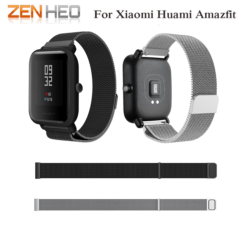цена на 20mm watch band for huami amazfit bip lite pace Milanese Loop Bracelet for Samsung Gear s2 Classic watch strap for gear sport S2