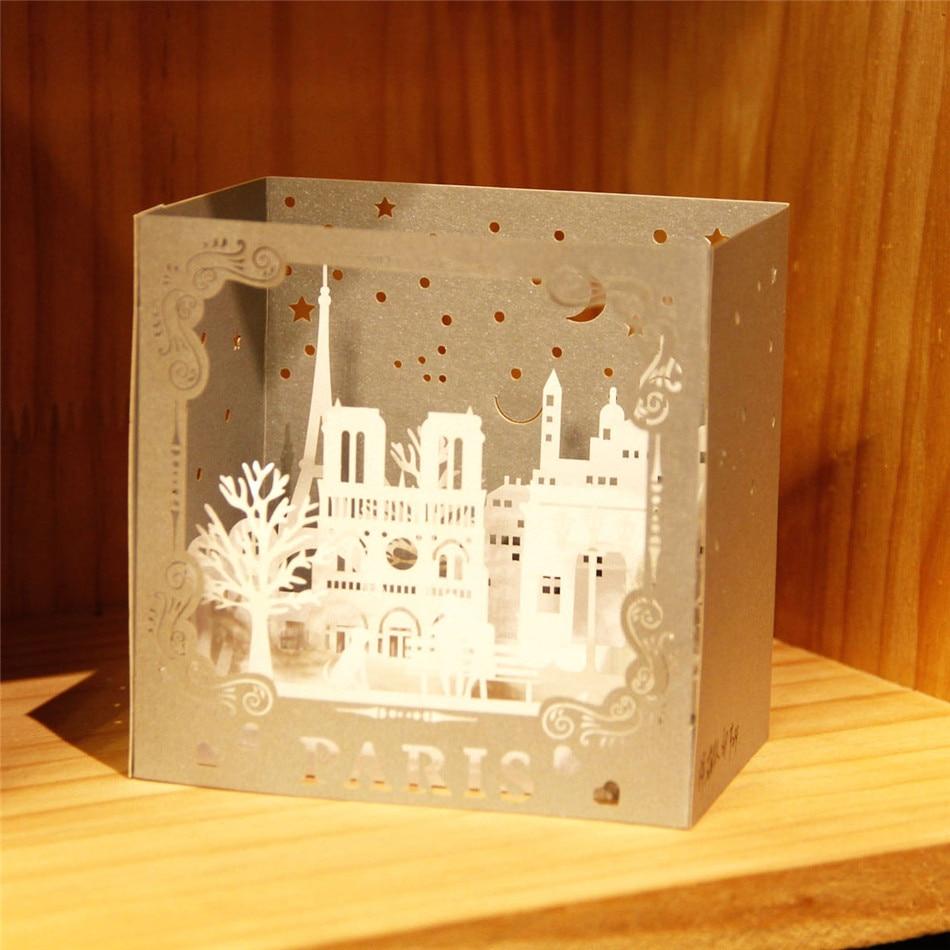 Happy Birthday 3d Pop Up Handmade Paris Postcards Laser