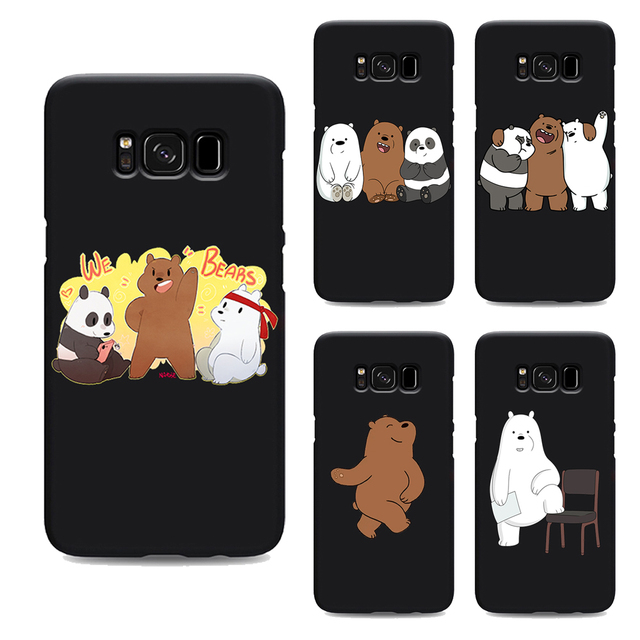 brand new 9c1c2 62359 US $1.64 34% OFF|we bare bears miniso soft Silicone black cover phone case  for samsung galaxy s7 edge s6 s5 s8 s9 plus best custom TPU Housing-in ...