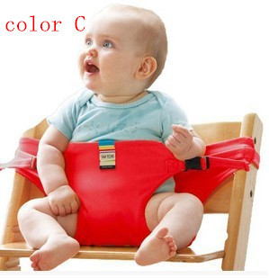 Portable Baby Seat Kids Feeding Chair for Baby Child Infant Safety Belt booster Seat High feeding Chair 7 Random colors