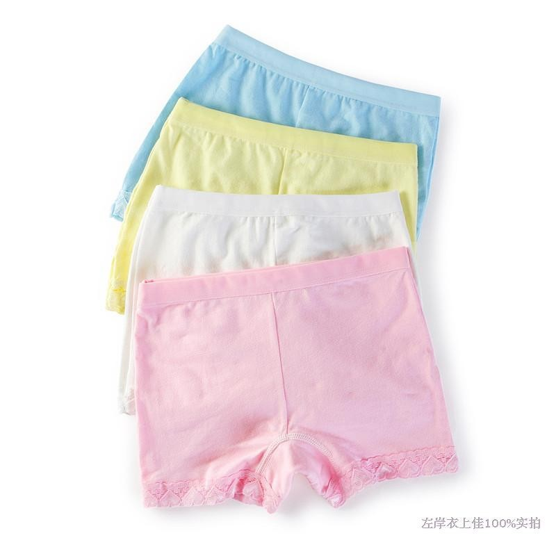 a1122976a Kids Underwear Girls Lace Cotton Boxer Child Safety Panties Underpants Pink  White Yellow Panties Next Calcinha Infantil D333