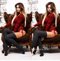 Sexy Women's Autumn Style Bodysuit Rompers Long Sleeve V Neck Solid Bodycon Lace Up Tie Side Fashion Playsuits Bodysuits CL3267