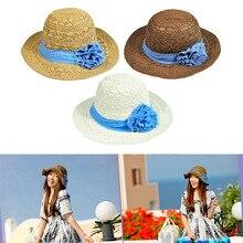 Женская соломенная шляпа с широкими полями, тканевая шляпа для защиты от солнца и пляжа на лето H9