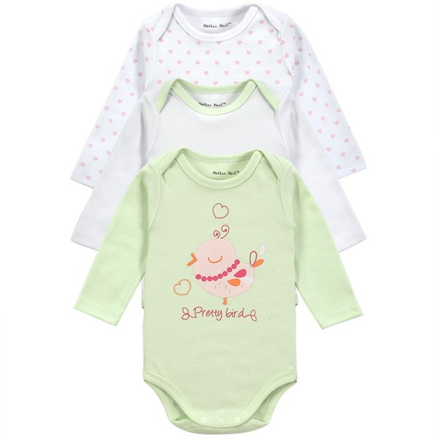 Cheap Price 3 Pcs/Lot Baby Bodysuit  Long Sleeve Baby Clothes Winter Infant Overalls Newborn Baby Boy Girl Clothing Set Jumpsuit