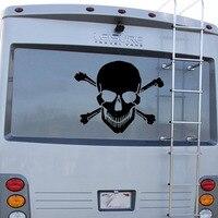 גולגולת שטן עצם גרפי ואן RV Camper קרוואן משאית מנוע גרפיקת מדבקות ויניל בית מדבקות לרכב