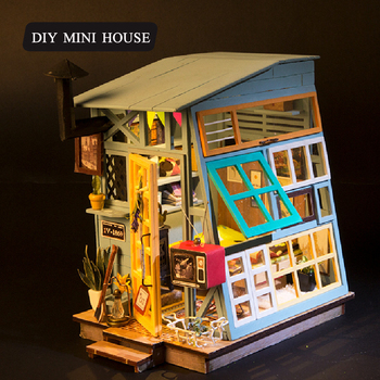 Алиэкспресс Иркутск - DIY Doll House Wodden 3D Miniatura Doll Houses Furniture Kit Puzzle Assemble Dollhouse Toys For Children Birthday Gift , aliexpress shopping ru, товары с aliexpress, купить на алиэкспресс