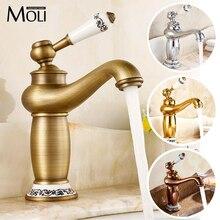 Soild латунь золото отделка ванной кран золотой чайник бенд носик керамическая ручка водопроводной воды torneira пункт banheiro