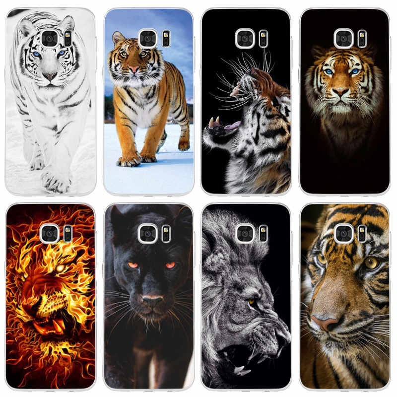 4F Tier Tiger Lion Transparent Harte PC Fall Abdeckung Für <font><b>Samsung</b></font> Galaxy Note <font><b>S</b></font> 5 6 <font><b>7</b></font> 8 9 10 rand Plus image