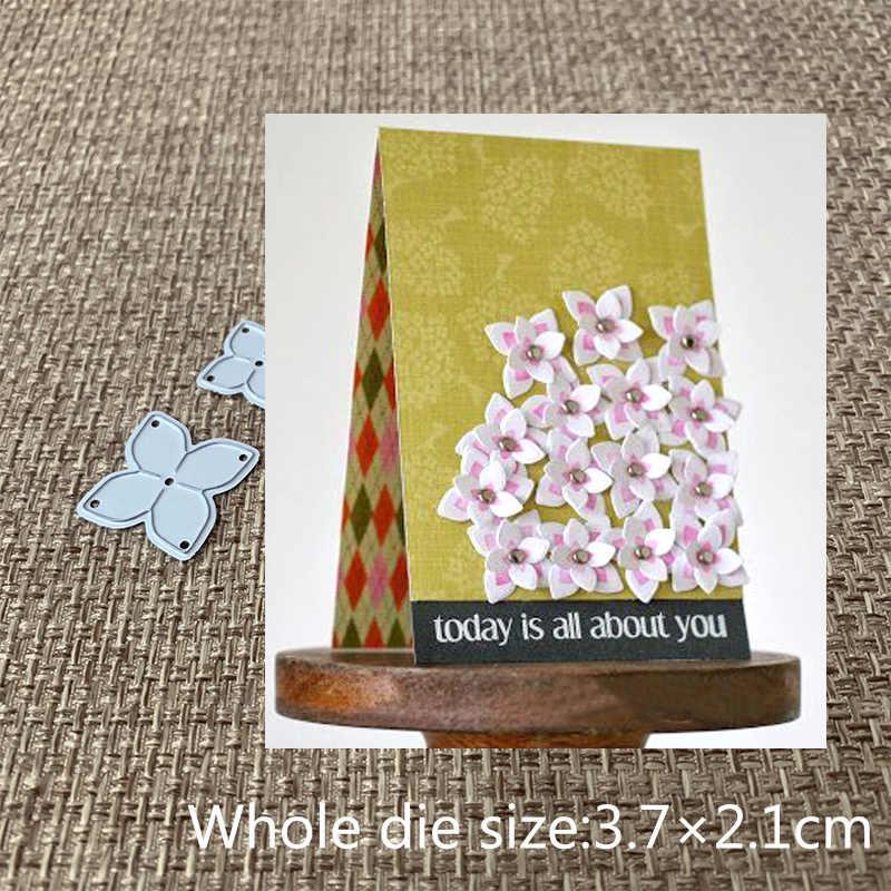 XLDesign หัตถกรรมตัดโลหะตายตัดตาย 2 pcs น่ารักขนาดเล็กดอกไม้ Scrapbooking กระดาษการ์ดหัตถกรรมอัลบั้ม DIY Embossing Die ตัด