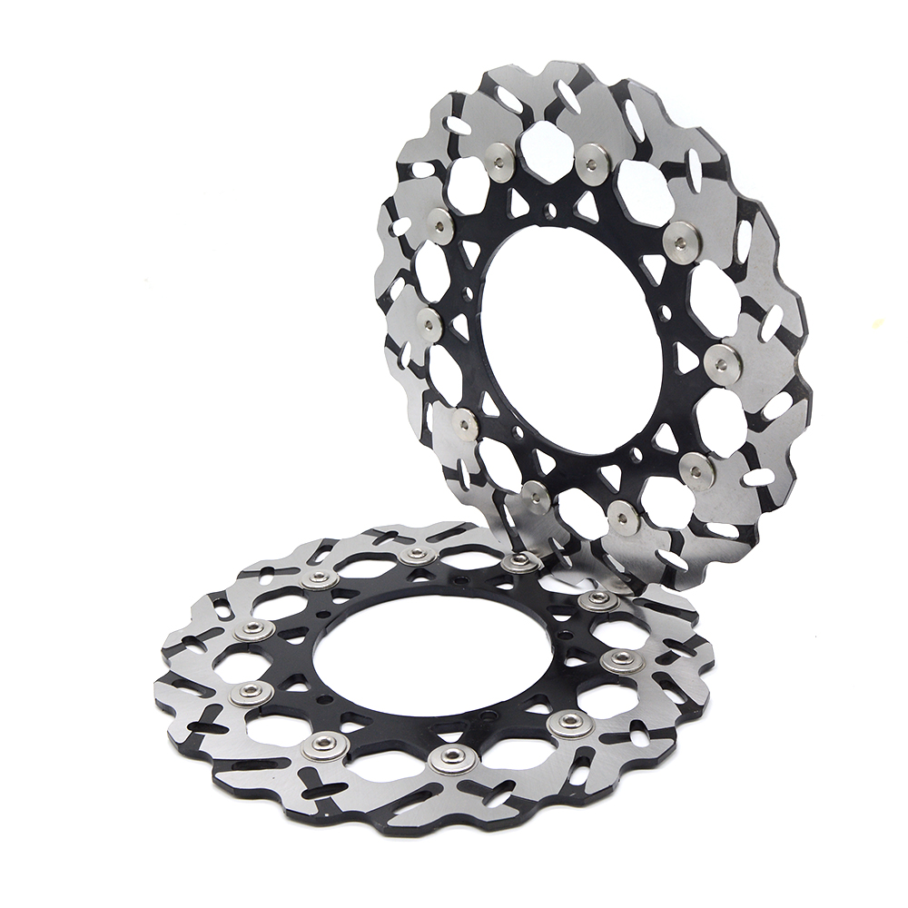 Hight Quantily Motorcycle Front Floating Brake Disc Rotor For YAMAHA YZF 600 R6 2003 2006 YZF1000 R1 2004 2005 2006 in Brake Disks from Automobiles Motorcycles