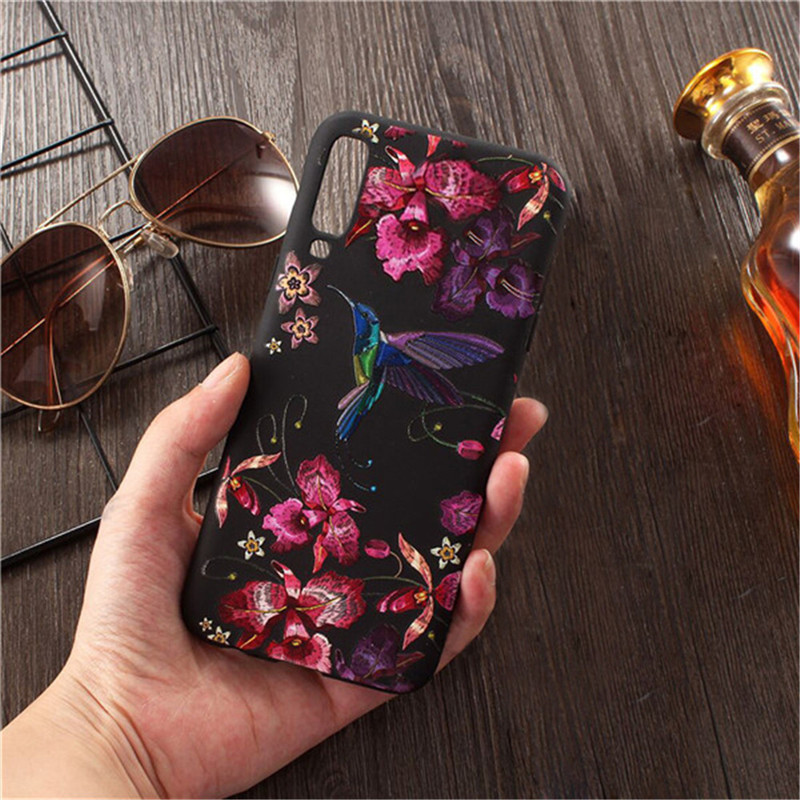 Soft TPU <font><b>3D</b></font> embossed Phone Case For <font><b>Xiaomi</b></font> <font><b>Redmi</b></font> Note 7 Case Silicon Cover For <font><b>Xiaomi</b></font> <font><b>Redmi</b></font> <font><b>4A</b></font> 4X 7A 6A Note 4X 5 6 7 8 Pro Case image