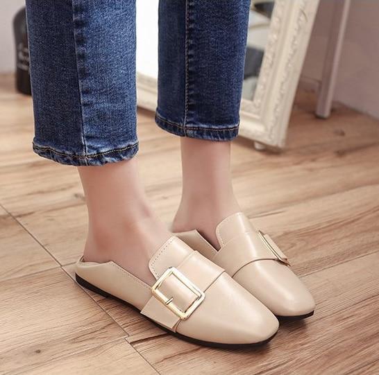 Simples Rétro Chaussures Femmes Peu Marche Plat De Mode Britannique Casual Profondes Respirant kZiXOPu