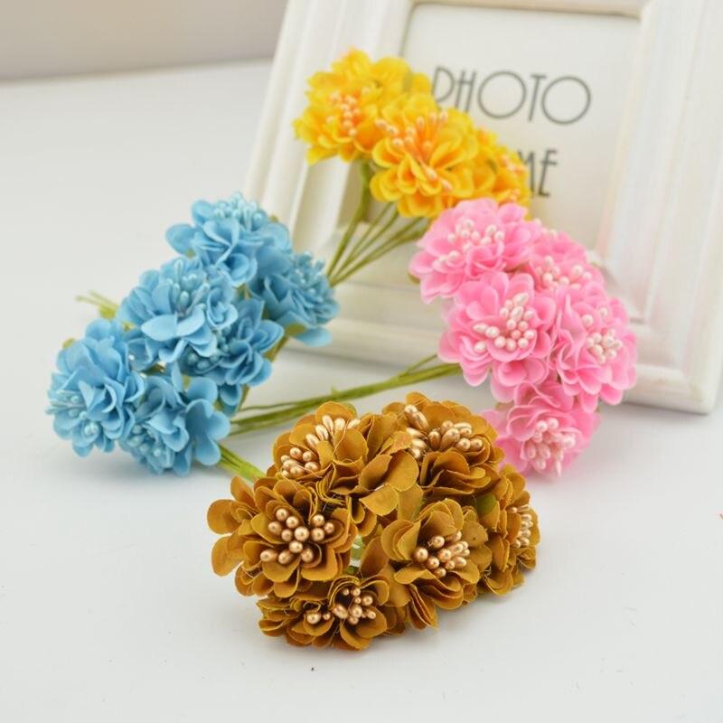 """bouquet Artisanat. corsage Mariage 10 violet fait main 4d satin rose fleurs 2/"""""""