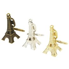 Retro Mini Paris Tower Model Keychain Keyring Metal Ring Gift Girls Key Bag Decoration Accessories Gifts(China)
