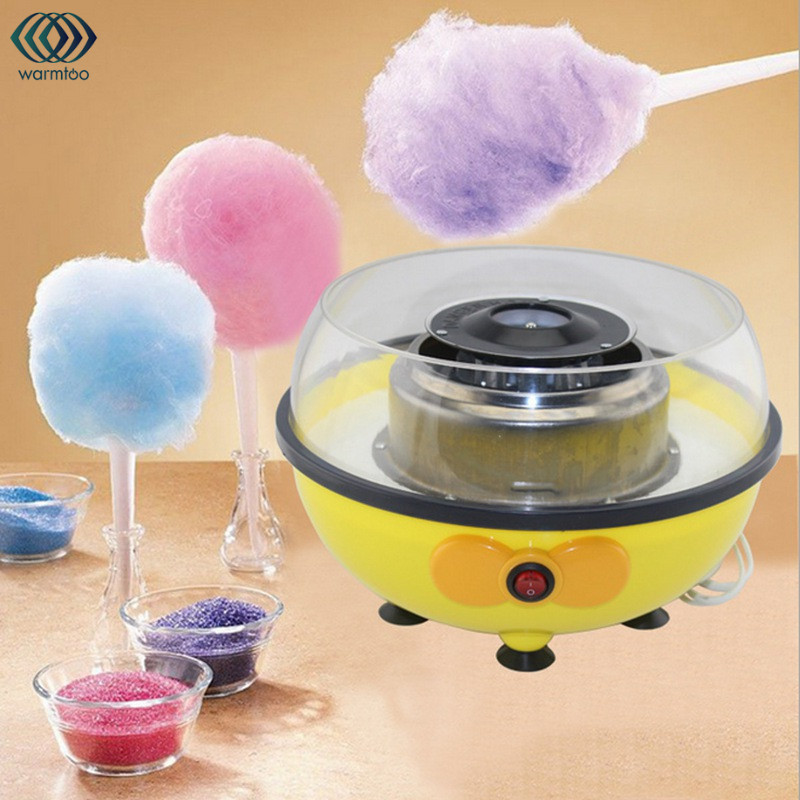 Electric Cotton Candy Machine With Measuring Spoon Bamboo Stick Floss Fluffy Sugar Children Girl Boy Gift 220V/110V цена 2017