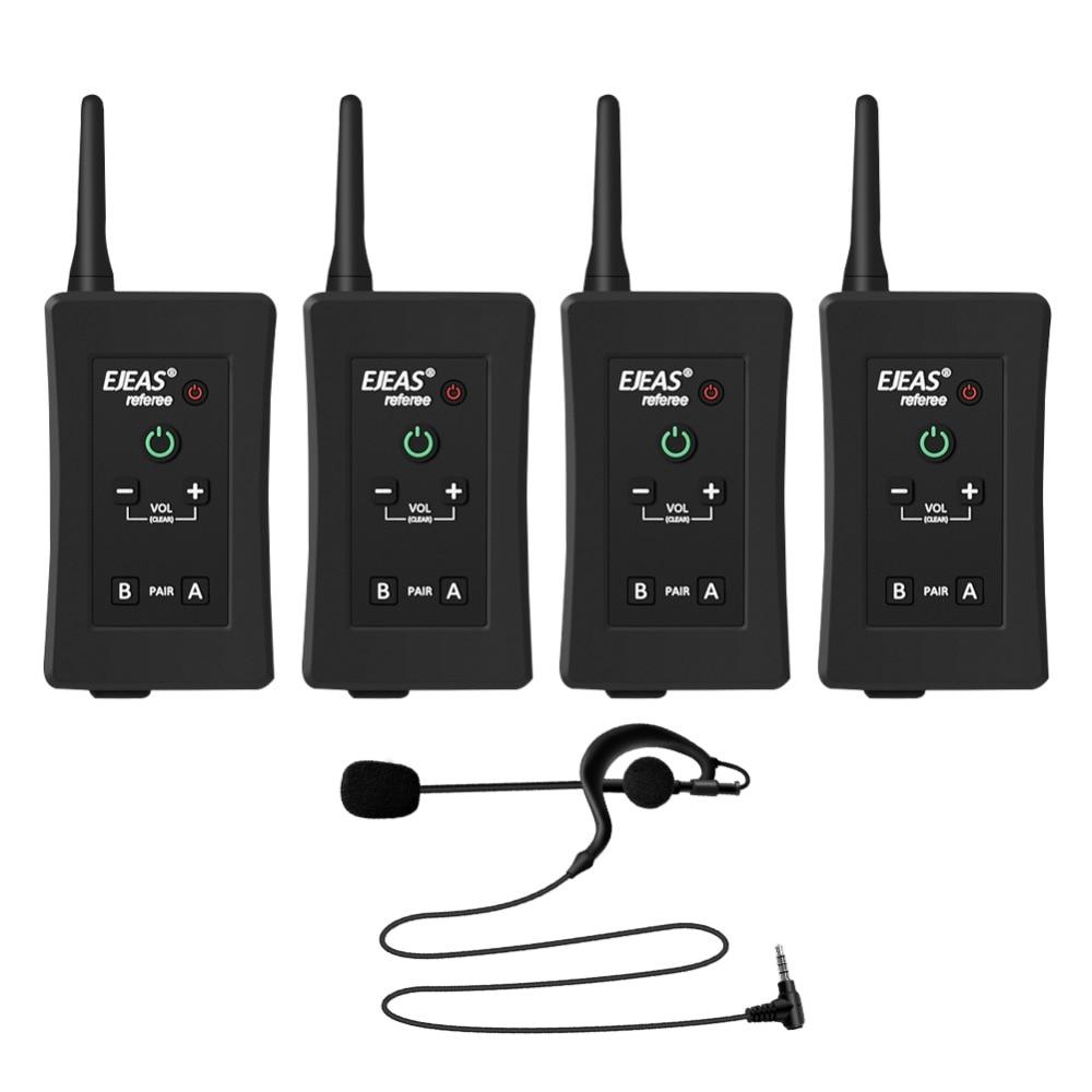 Bluetooth-Intercom Speaker Headset Communicator Football Referees FBIM Real-Time Wireless