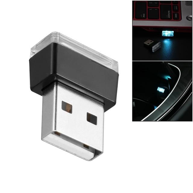Đèn LED Không Khí Trang Trí Đèn Cho Xe Thuốc Lá Nhẹ Hơn PC với Ổ Cắm USB Chiếu Sáng Khẩn Cấp Xe Kiểu Dáng