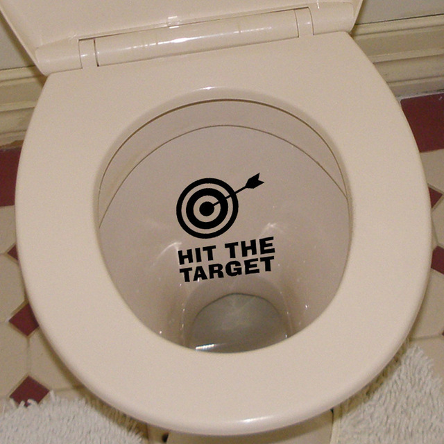 Bathroom Toilet Funny Stickers HIT THE TARGET Wall Sticker Target - Wall stickers target