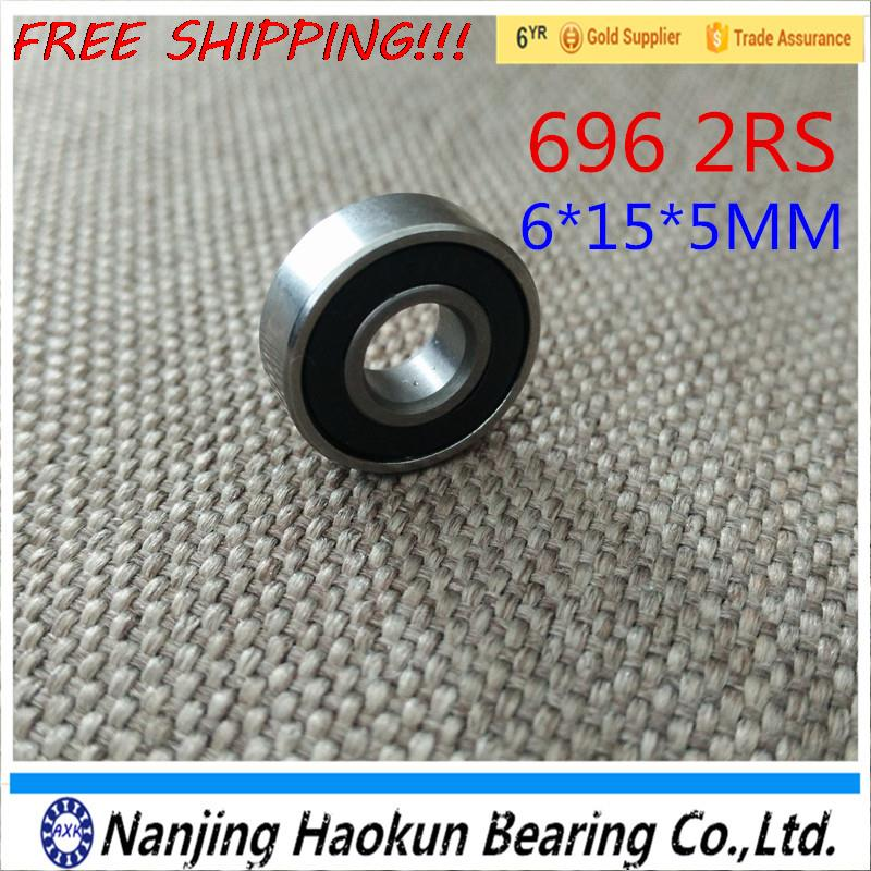 Free shipping 696-2RS 696 hybrid ceramic deep groove ball bearing 6x15x5mm by Haokun dd001498 dark green mixed long straight cosplay wig a mesh cap