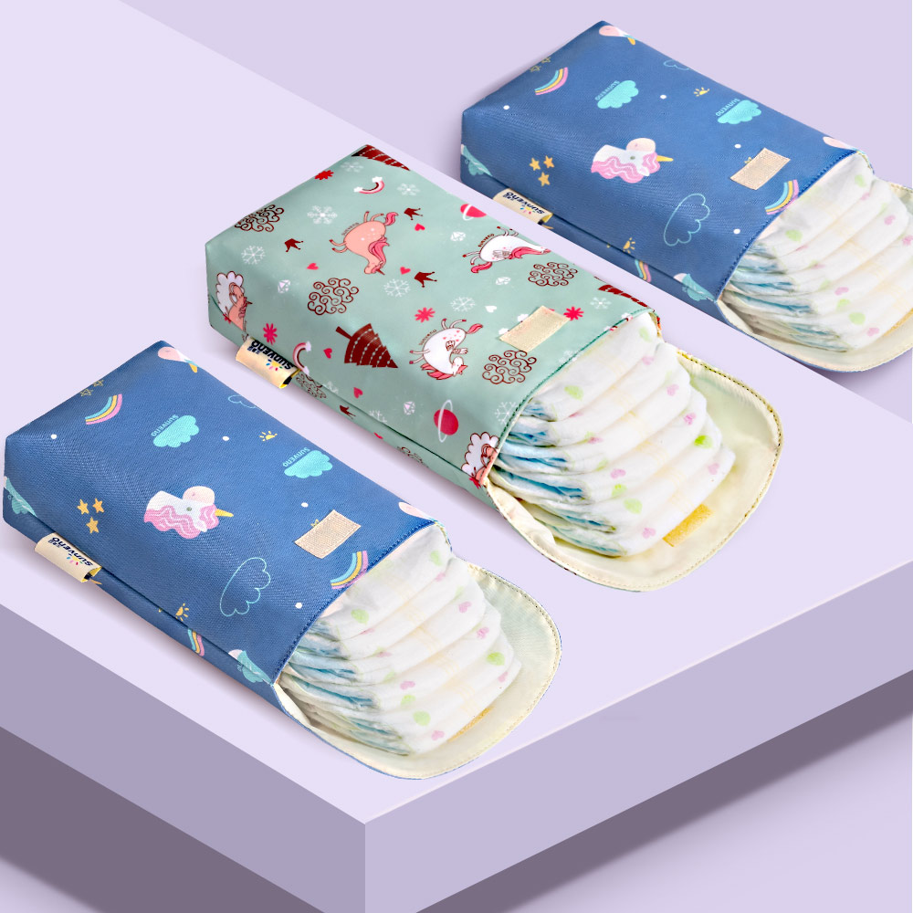 Multifunctional Baby Diaper Organizer Reusable Waterproof  Bag Travel Nappy BagV
