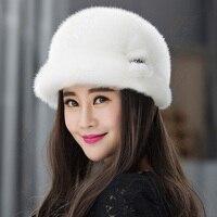 New fashion winter fur hat,Mink fur fedora hat for women wide brim hat wedding hats fascinator ZY09