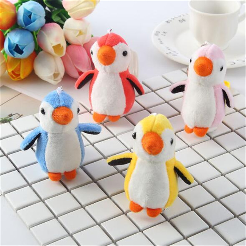 HANDANWEIRAN 2PCS Mini Cute Penguin Plush Toy Pendant Creative Multicolor Penguins Bag Keychain Baby Carriage Crib Ornament7 5CM in Stuffed Plush Animals from Toys Hobbies