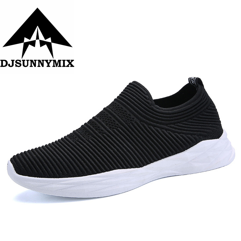 DJSUNNYMIX Mens Running Shoes Summer Mesh Cushioning sneakers Trainer Athletic Sport Shoes Male Outdoor Walking Jogging shoes